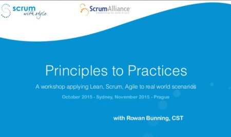 Principles from Principles to Practices Workshop
