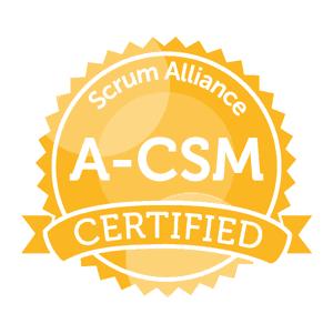 Advanced Certified ScrumMaster A-CSM - for scrum masters and development managers aspiring towards certified agile leadership