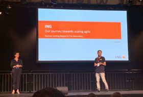 ING improves on the so-called Spotify Model using LeSS