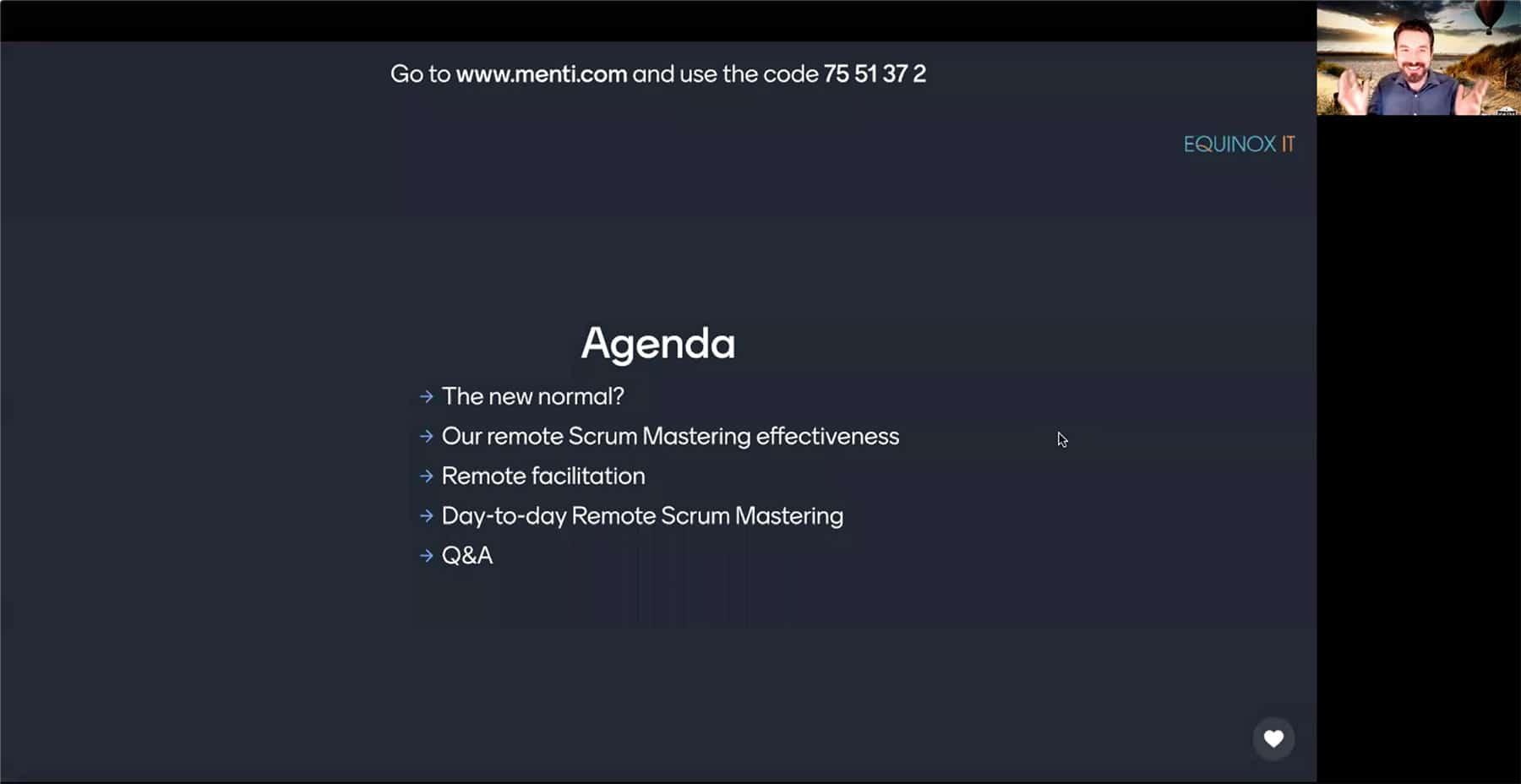 Webinar Agenda screencap